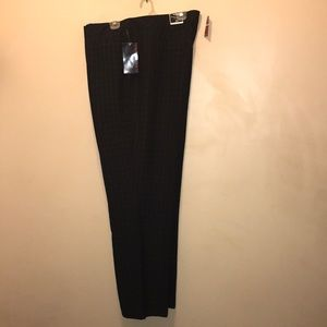 Avenue Women's Black Checkered Dress Pants 28 Tall